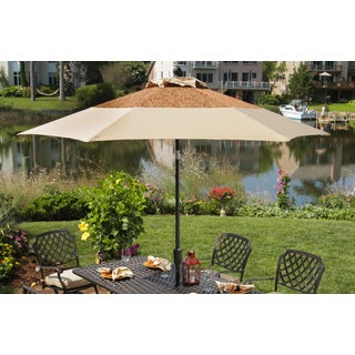 Agio Heritage Market Brown Aluminum Umbrella