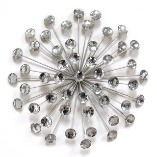 Stratton Home Decor Silver Acrylic 16 Inch Burst Wall Decor   Free Shipping  On Orders Over $45   Overstock.com   21310660
