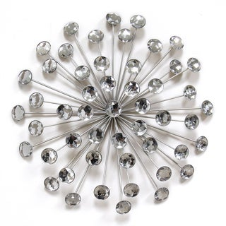 Link to Stratton Home Decor Silver Acrylic 16-inch Burst Wall Decor Similar Items in Decorative Accessories
