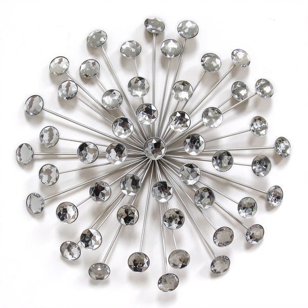 Shop Stratton Home Decor Silver Acrylic 16-inch Burst Wall Decor ...