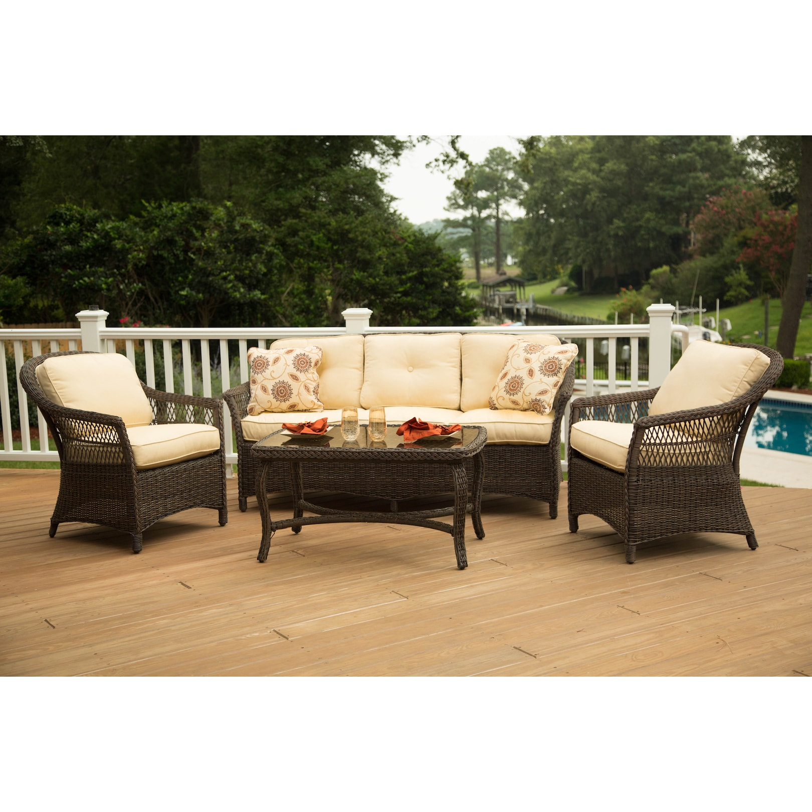 Agio Charlotte Seating Group (Brown), Size 4 Piece Sets, .