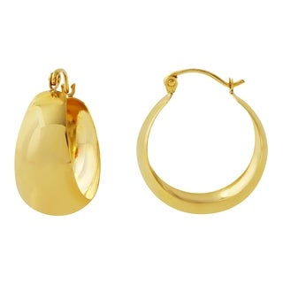 10k Yellow Gold 10mm Hoop Earrings