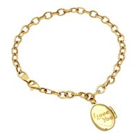 14k Yellow Gold Locket Bracelet