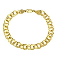 14K Yellow Gold 7mm Charm Bracelet for Charms