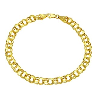 14K Yellow Gold 5.9mm Charm Bracelet for Charms