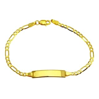14k Yellow Gold Figaro Baby ID Bracelet|https://ak1.ostkcdn.com/images/products/14790191/P21310787.jpg?impolicy=medium