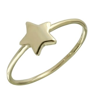 14k Italian Gold Solid Star Ring (5 options available)