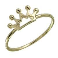 14k Italian Gold Crown Ring