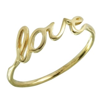 14k Italian Gold 'Love' Ring (More options available)