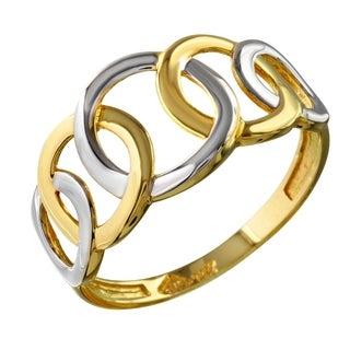 14k Two-tone Gold Circles Ring