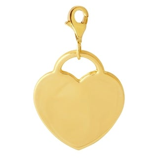 14k Yellow Gold Personalized Engravable Heart Pendant