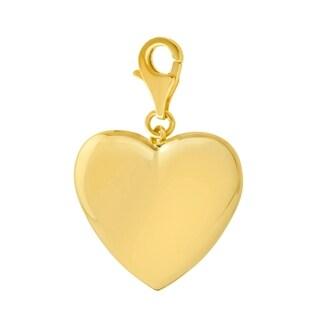 14k Yellow Gold High-polished Heart Pendant