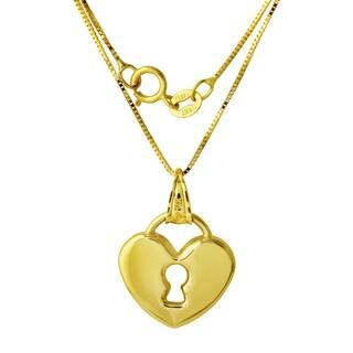 14k Gold Heart Lock Pendant Necklace https://ak1.ostkcdn.com/images/products/14790239/P21310813.jpg?impolicy=medium
