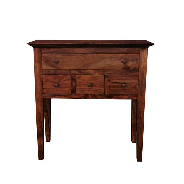 Handmade NES Suzie Solid Teak 30 Inch Cabinet / Console Table