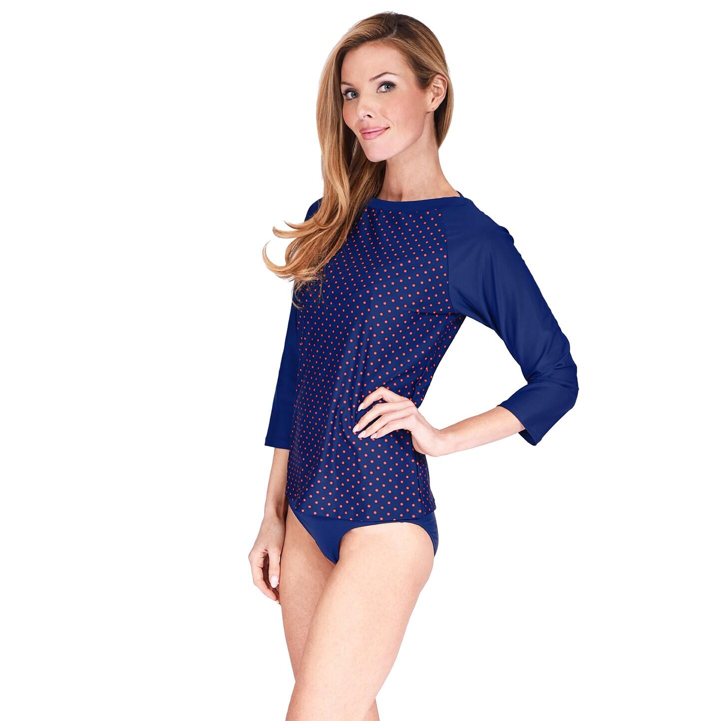 8e1e201d64 Shop Mazu Swim Boatneck Women's Rashguard - Free Shipping On Orders Over  $45 - Overstock - 14790376