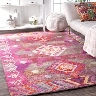 The Curated Nomad Noriega Bohemian Tribal Pink Runner Rug (2'6 x 8')