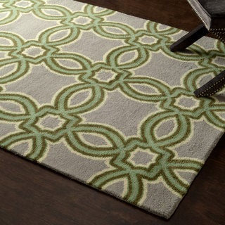 nuLOOM Hand-tufted Modern Floral Chain Wool Rug (5' x 8')