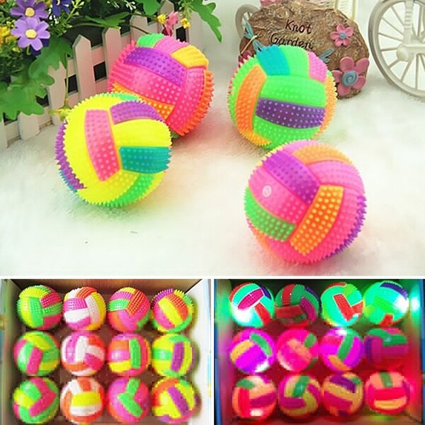 Led Flashing Light Up Color Changing Bouncing Ball - Magenta/Yellow
