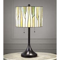 "Barossa 25""H Tiffany-style Green Table Lamp"