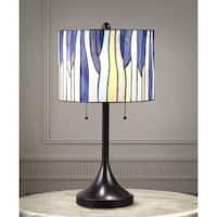 Barossa 25-inch Tiffany-style Table Lamp - Purple