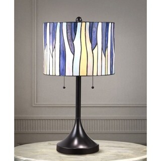 Barossa 25-inch Tiffany-style Table Lamp - Purple