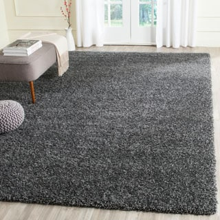 Safavieh California Cozy Solid Dark Grey Shag Rug