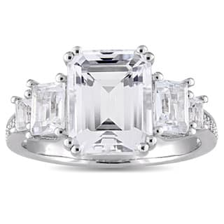 Miadora Sterling Silver White Topaz and Diamond Accent Vintage Engagement Ring|https://ak1.ostkcdn.com/images/products/14790761/P21311258.jpg?impolicy=medium