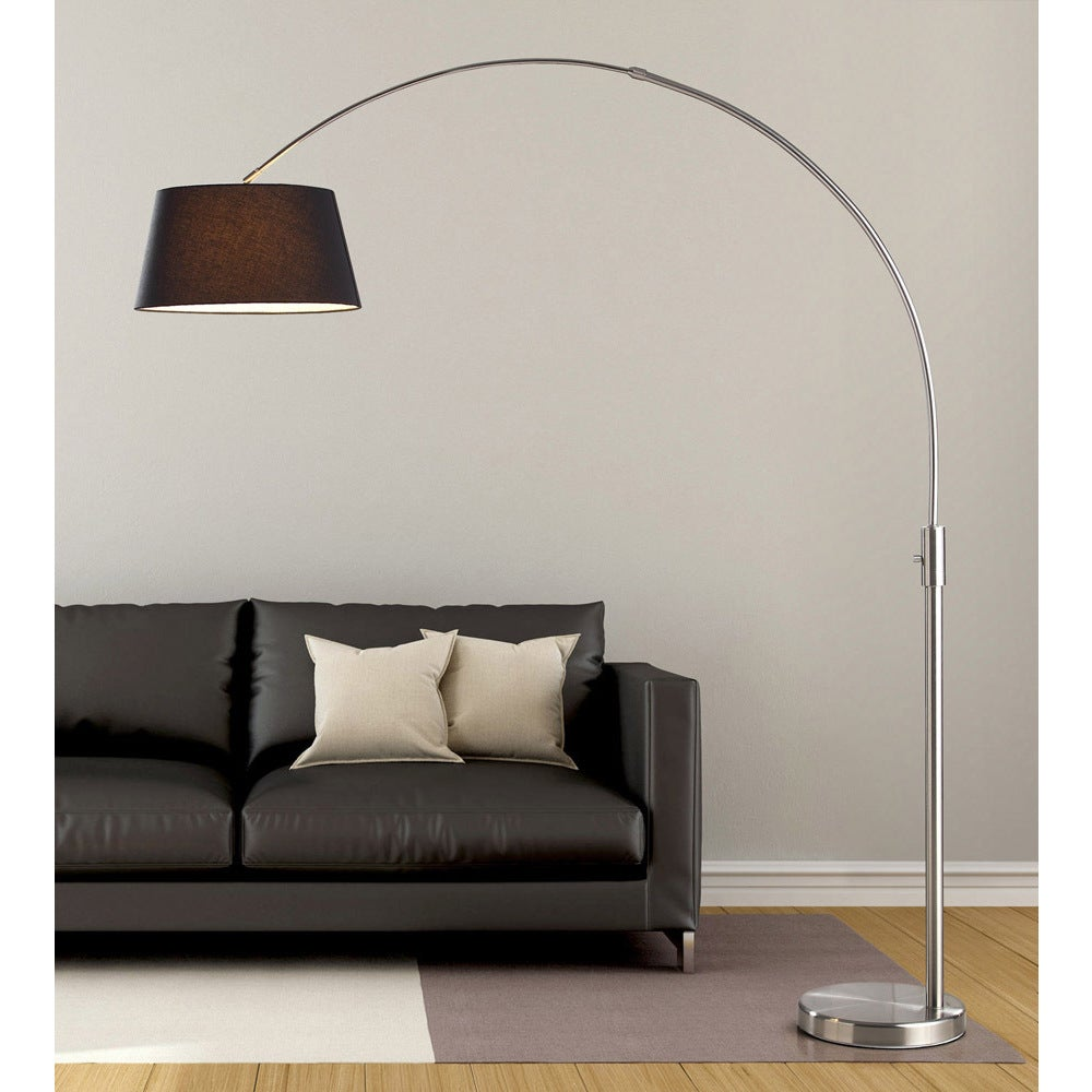 Hometrend Orbita 82-inch Brushed Nickle Retractable Arch ...