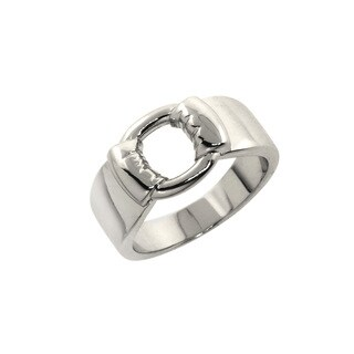 Eternally Haute High Polished Drape Buckle Ring - Silver