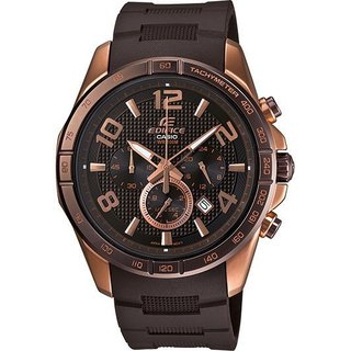 Casio Edifice Chronograph Brown Dial Rose Gold-Tone Mens Watch EFR516PG-5AV