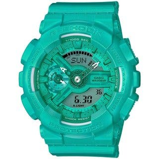 Casio G-Shock Vivid Color GMAS110VC-3A Green Resin Analog Digital Women https://ak1.ostkcdn.com/images/products/14790851/P21311414.jpg?impolicy=medium