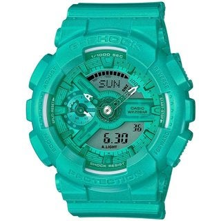 Casio G-Shock Vivid Color GMAS110VC-3A Green Resin Analog Digital Women