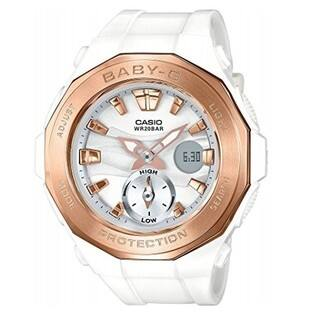 Casio Baby-G White Rose-Tone Dial Quartz Ladies Watch BGA220G-7A|https://ak1.ostkcdn.com/images/products/14790978/P21311427.jpg?impolicy=medium