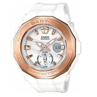 Casio Baby-G White Rose-Tone Dial Quartz Ladies Watch BGA220G-7A