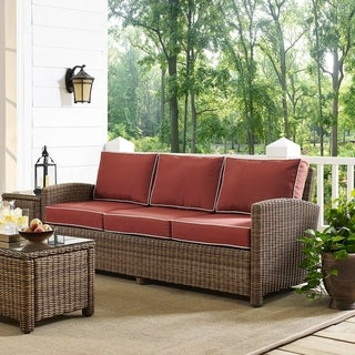 Link to Bradenton Sofa with Sangria Cushions Similar Items in Outdoor Sofas, Chairs & Sectionals