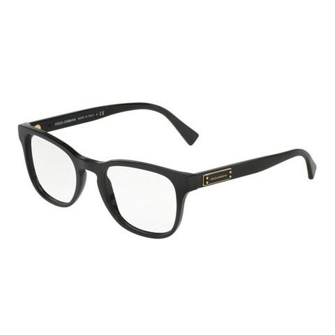 Dolce & Gabbana Men's DG3260 501 52 Round Plastic Black Clear Eyeglasses