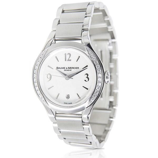 Pre-Owned Baume & Mercier Ilea MOA08771 Stainless Steel Women's Watch