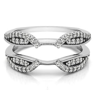 10k Gold 1/2ct TDW Round-cut Diamond Cathedral Infinity Ring Guard Enhancer