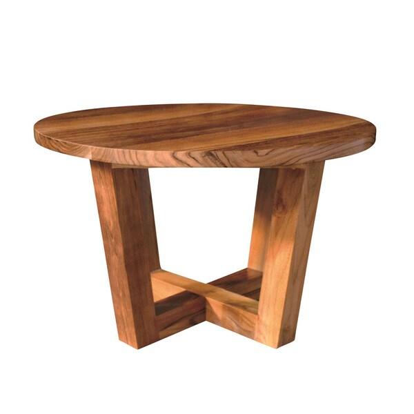 Handmade Nes Linea Solid Teak 32 Inch Round Coffee Table Indonesia
