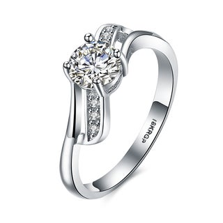 Hakbaho Jewelry White Gold Plated Bow-tie Ring