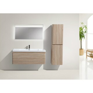 Moreno Bath Happy 48 Inch Wall Mounted Modern Bathroom Vanity With Reinforced Acrylic Sink