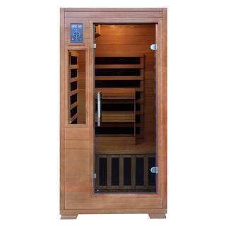 1-2 Person Hemlock Infrared Sauna w/ 5 Carbon Heaters|https://ak1.ostkcdn.com/images/products/14791227/P21311647.jpg?impolicy=medium