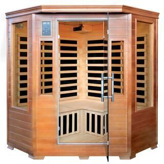 3-Person Hemlock Corner Infrared Sauna w/ 7 Carbon Heaters|https://ak1.ostkcdn.com/images/products/14791232/P21311648.jpg?impolicy=medium