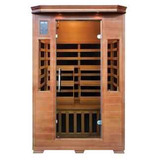 2-Person Hemlock Premium Infrared Sauna w/ 6 Carbon Heaters|https://ak1.ostkcdn.com/images/products/14791234/P21311649.jpg?impolicy=medium