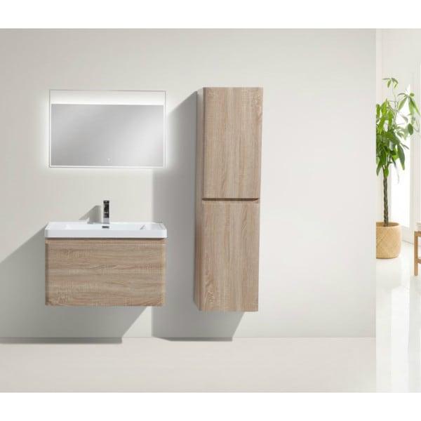 Moreno Bath Happy 32 Inch Wall Mounted Modern Bathroom Vanity With Reinforced Acrylic Sink