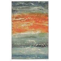"Mohawk Home Aurora Abstract Seascape Area Rug (7' 6 x 10') - 7'6"" x 10'"