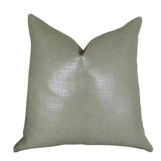 Plutus Glazed Linen Steel Handmade Throw Pillow