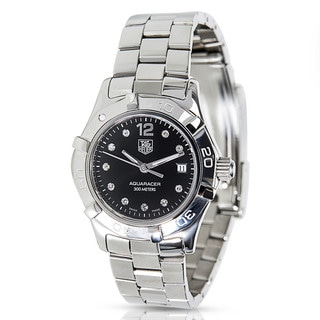 Pre-owned TAG Heuer Aquaracer WAF141C Stainless Steel Women's Diamond Watch