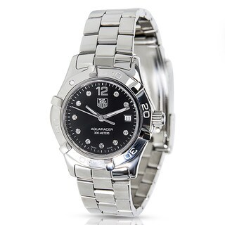 Pre-owned TAG Heuer Aquaracer WAF141C Stainless Steel Women's Diamond Watch|https://ak1.ostkcdn.com/images/products/14791265/P21311634.jpg?_ostk_perf_=percv&impolicy=medium