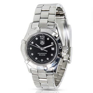 Pre-owned TAG Heuer Aquaracer WAF141C Stainless Steel Women's Diamond Watch|https://ak1.ostkcdn.com/images/products/14791265/P21311634.jpg?impolicy=medium